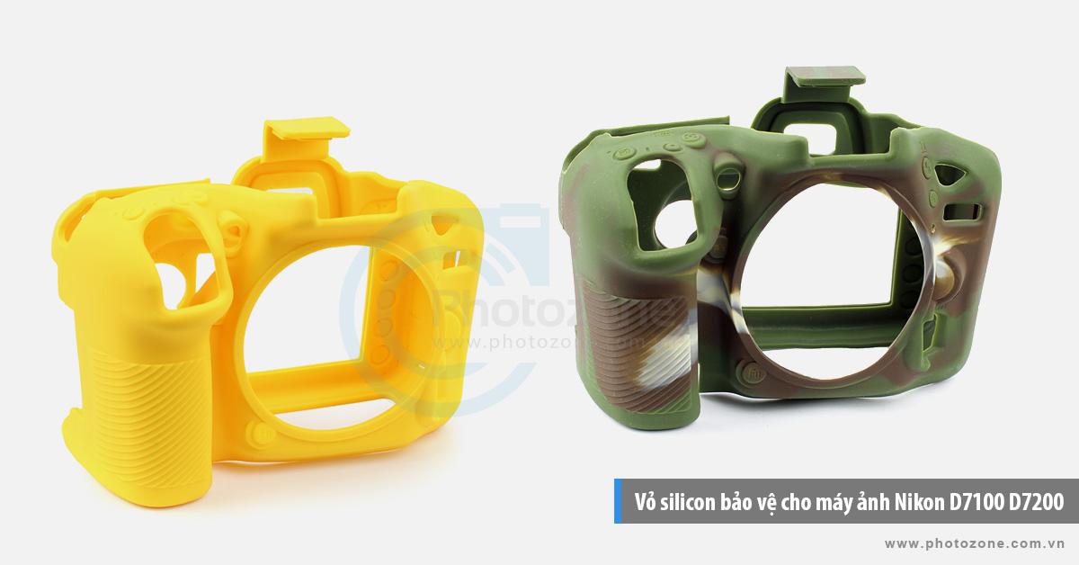 Vỏ silicon bảo vệ cho máy ảnh Nikon D7100 D7200