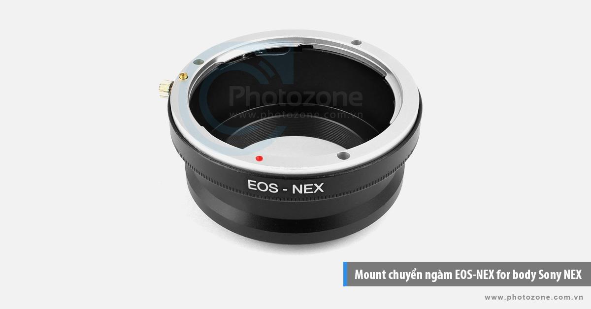 Mount chuyển ngàm EOS-NEX (E-mount) for body Sony NEX