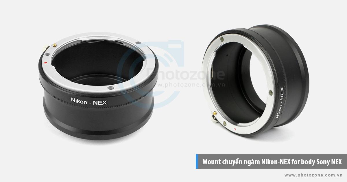 Mount chuyển ngàm Nikon-NEX (E-mount) for body Sony NEX