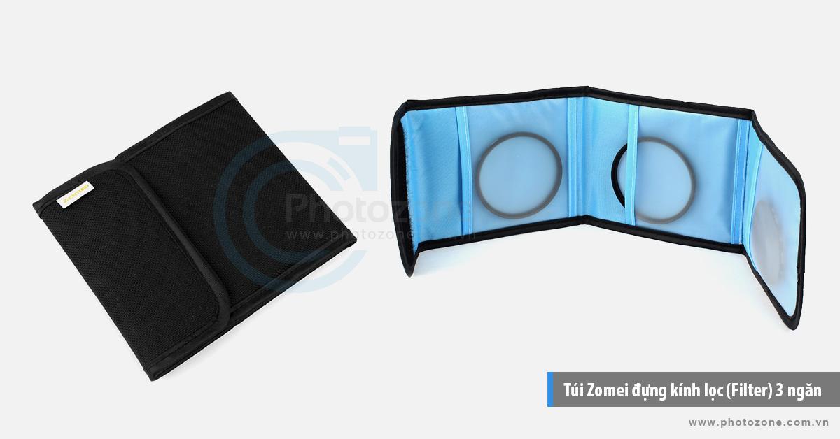 Túi Zomei đựng kính lọc (Filter) 3 ngăn