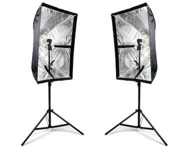 Bộ 2 Softbox dù 60x90cm đèn Godox AC Slave Flash 45W