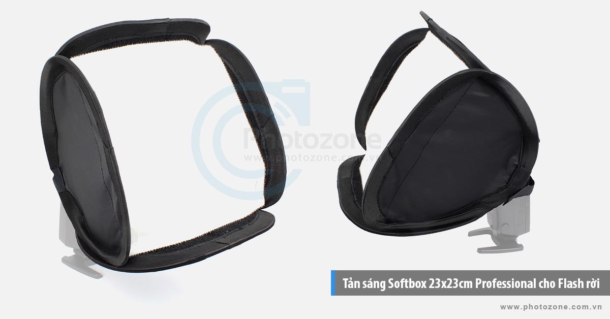 Tản sáng Softbox 23x23cm Professional cho Flash rời