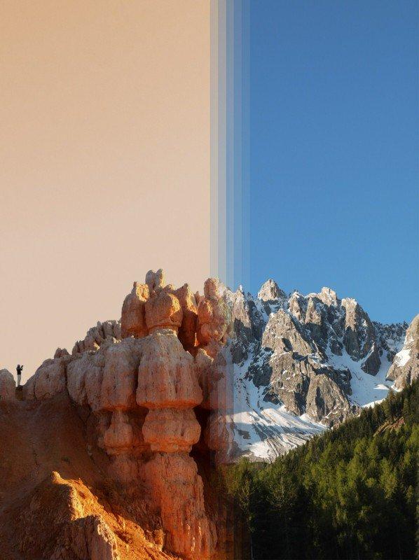 Ảnh Side-by-Side hoà trộn các khung cảnh từ khắp nơi trên thế giới