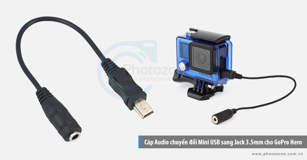 Cáp Audio chuyển đổi Mini USB sang Jack 3.5mm cho GoPro Hero (3.5mm Micro Adapter)