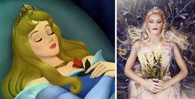 Nữ nhiếp ảnh gia tái hiện cảnh phim hoạt hình Disney