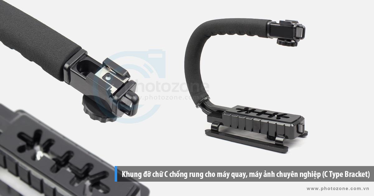 Khung đỡ chữ C chống rung cho máy quay, máy ảnh chuyên nghiệp (C Type Bracket)