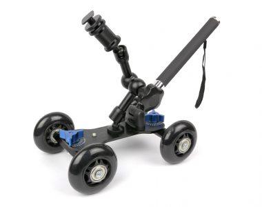Dolly Wheels bánh xe trượt kèm Magic-Arm và tay đẩy cho máy ảnh, máy quay