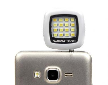 Đèn mini 16 Led Flash hỗ trợ điện thoại chụp ảnh