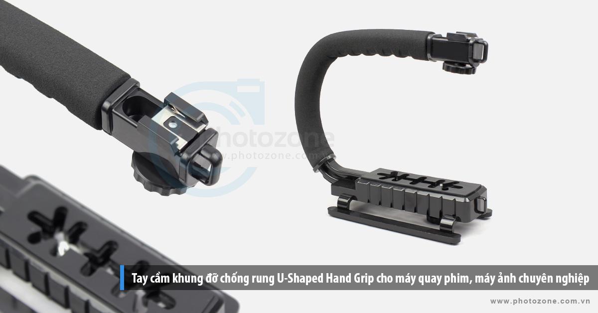 Tay cầm khung đỡ chống rung U-Shaped Hand Grip cho máy quay phim, máy ảnh chuyên nghiệp