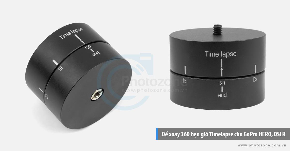 Đế xoay 360 hẹn giờ Timelapse cho MRL, GoPro HERO, điện thoại