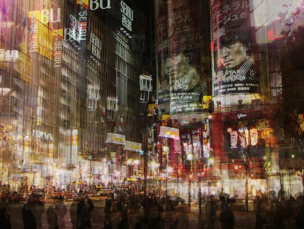 Xem Nhật Bản chuyển động qua ảnh phơi sáng chồng hình