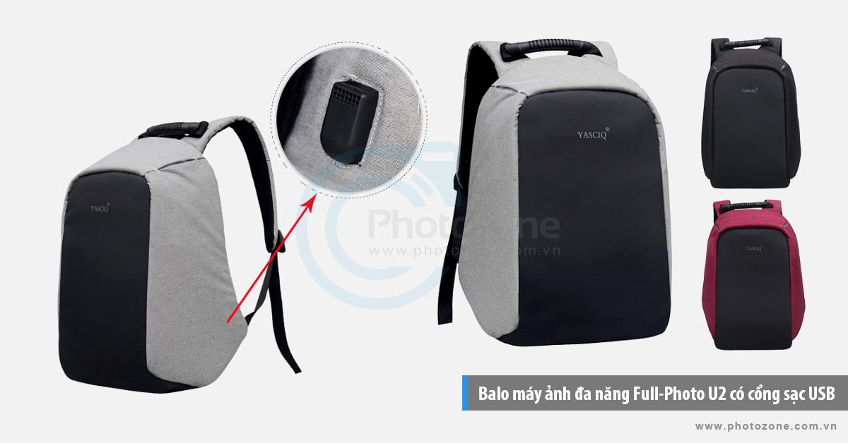 Balo máy ảnh đa năng Full-Photo U2 có cổng sạc USB