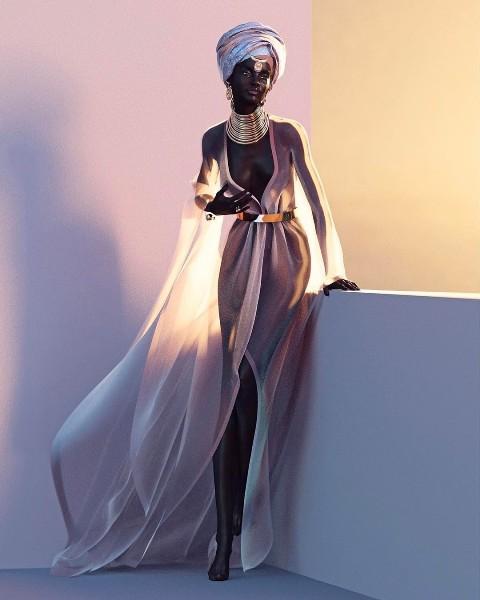 Xôn xao tấm hình nữ người mẫu da đen xinh đẹp nhất mạng xã hội
