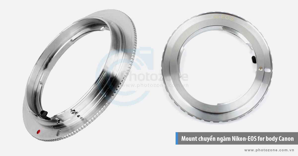 Mount chuyển ngàm (Hợp kim) Nikon-EOS for body Canon