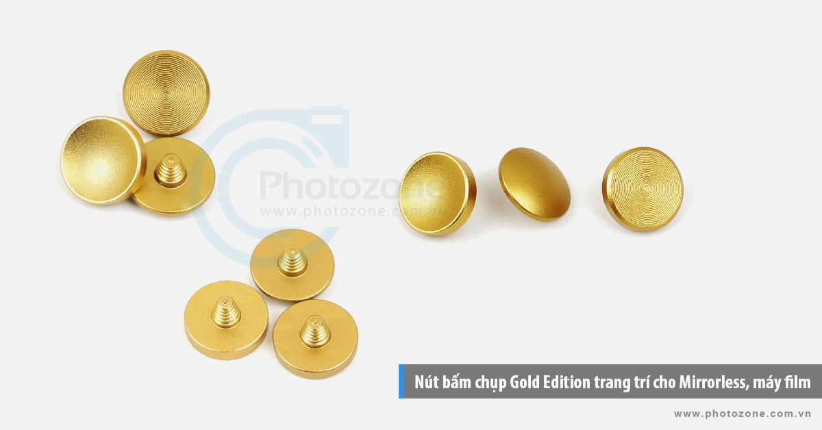 Nút bấm chụp (Gold Edition) trang trí cho Mirrorless, máy film