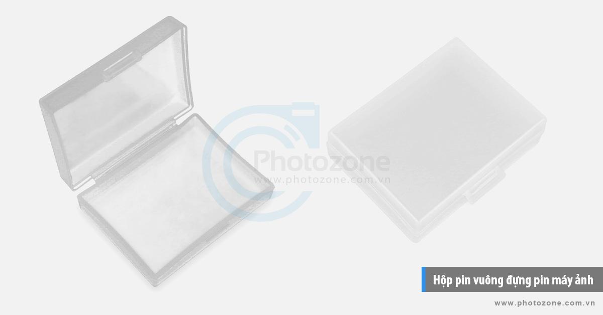 Hộp pin vuông đựng pin máy ảnh