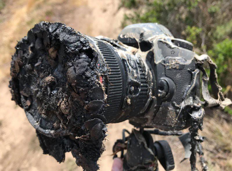 """Ham hố chụp tên lửa phóng, combo máy ảnh hơn trăm triệu bị """"nướng chín"""""""