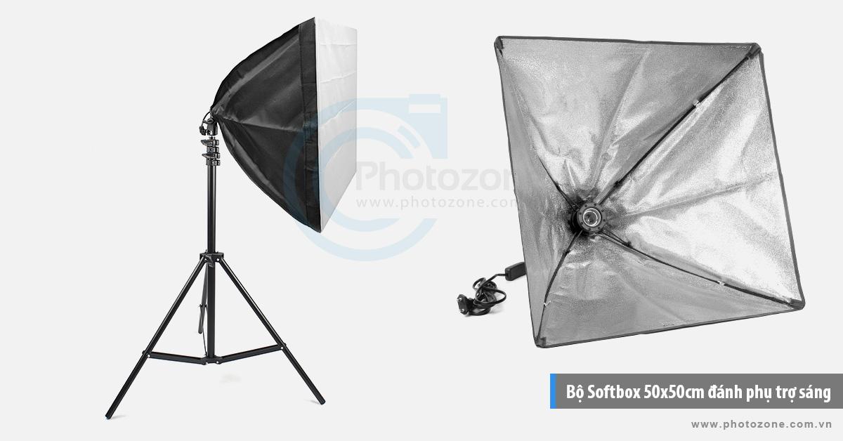 Bộ Softbox 50x50cm đánh phụ trợ sáng LED 30W