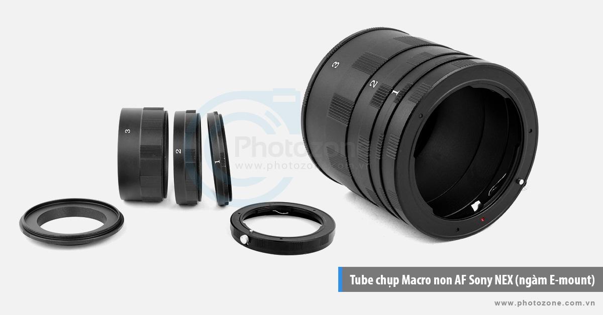 Tube chụp Macro non AF Sony NEX (ngàm E-mount)