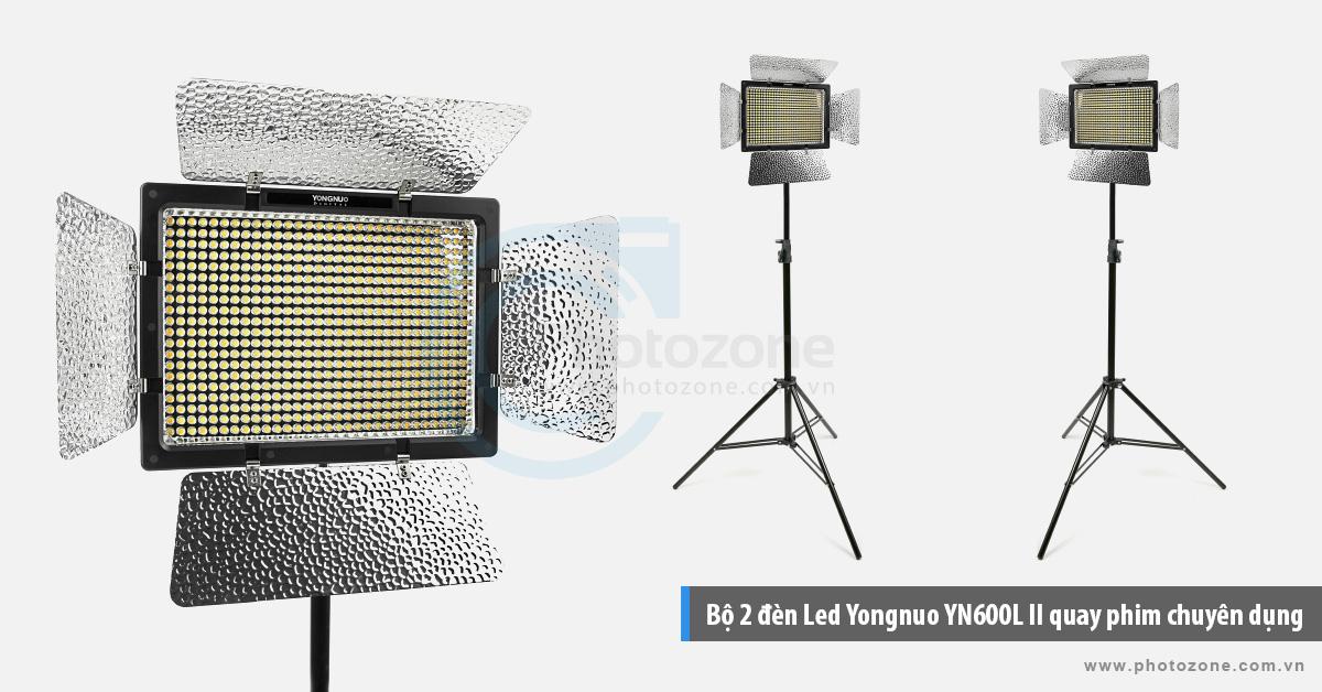 Bộ 2 đèn Led Yongnuo YN600L II quay phim chuyên dụng