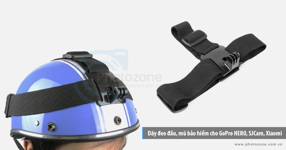 Dây đeo đầu, mũ bảo hiểm cho GoPro HERO, SJCam, Xiaomi Yi