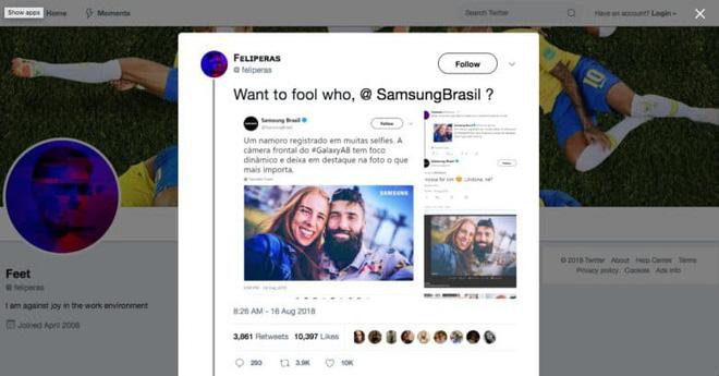Samsung Brazil bị phát hiện dùng ảnh chụp bởi camera DSLR để quảng cáo Galaxy A8