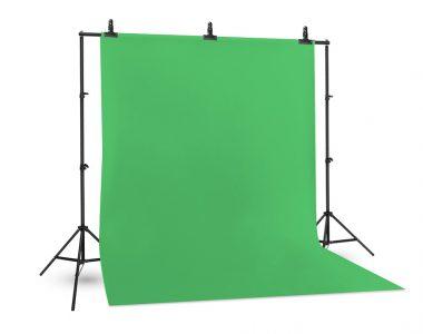 Bộ phông vải quay phim xanh lá (1.8 x 2.9m) Cotton Muslin cao cấp, kèm khung treo (2 x 2m)