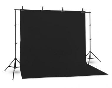 Bộ phông vải chụp ảnh đen (3 x 4m) Cotton Muslin cao cấp, kèm khung treo (3 x 2.6m)