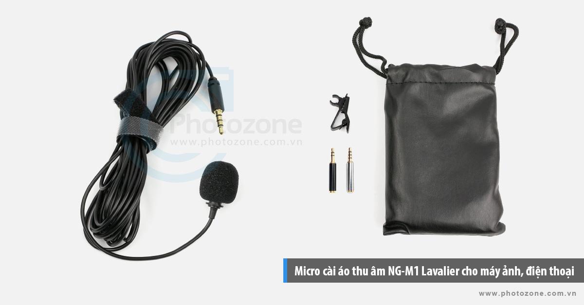 Micro cài áo thu âm NG-M1 Lavalier cho máy ảnh, điện thoại