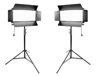 Bộ 2 đèn quay phim Kino Led ánh sáng trắng (6500K) chuyên nghiệp kèm chân đèn 2.8m