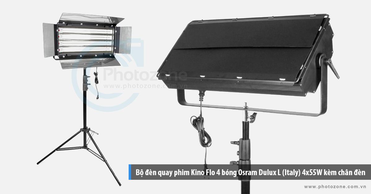Bộ đèn quay phim Kino Flo 4 bóng Osram Dulux L (Italy) 4x55W kèm chân đèn