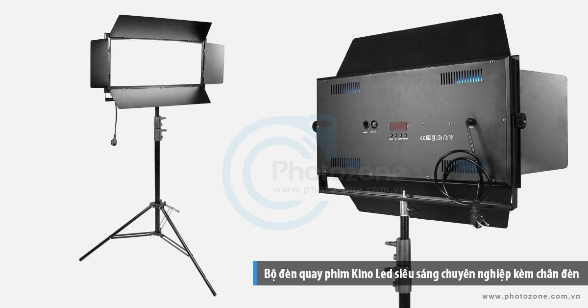 Bộ đèn quay phim Kino Led ánh sáng trắng (6500K) chuyên nghiệp kèm chân đèn