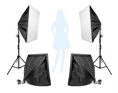 Bộ 4 Softbox 50x70cm chuyên chụp thời trang LED 400W