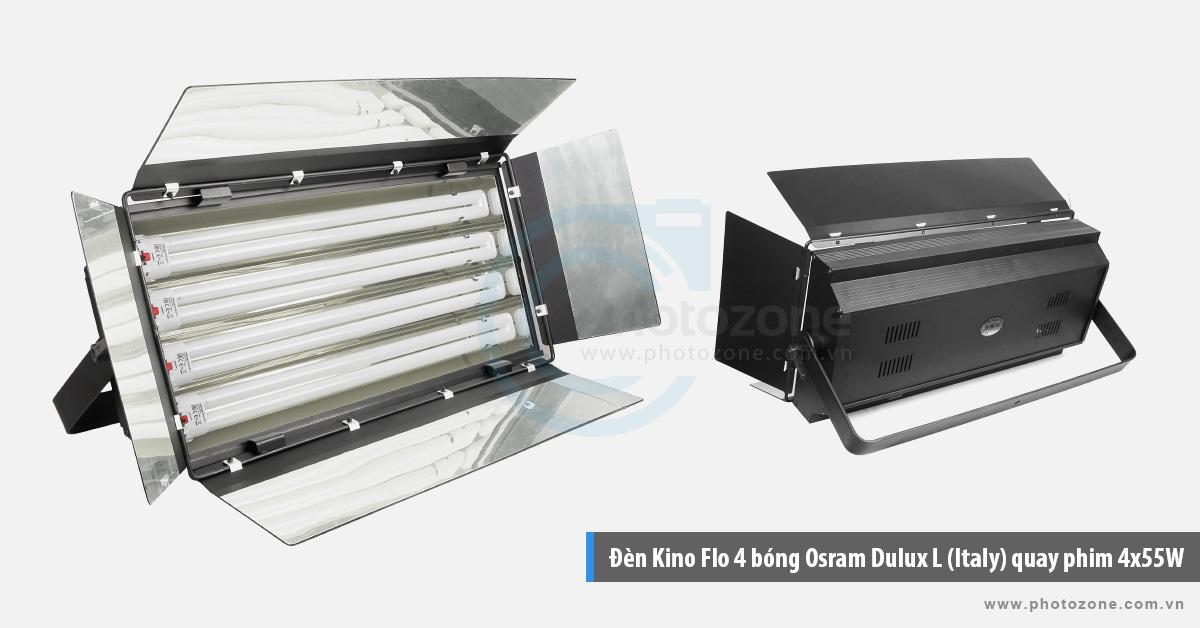 Đèn Kino Flo 4 bóng Osram Dulux L (Italy) quay phim 4x55W