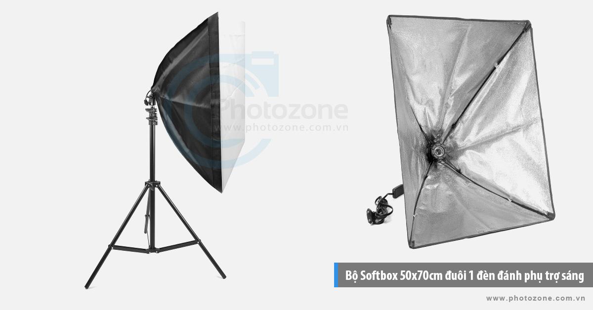 Bộ Softbox 50x70cm trợ sáng LED 40W