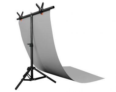 Bộ phông PVC xám chụp ảnh sản phẩm (60 x 130cm), kèm khung treo chữ T (68 x 75cm)