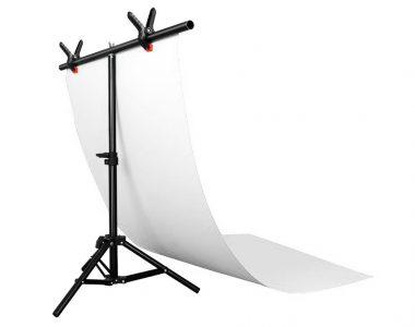 Bộ phông PVC trắng chụp ảnh sản phẩm (60 x 130cm), kèm khung treo chữ T (68 x 75cm)