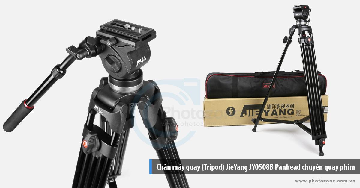 Chân máy quay (Tripod) JieYang JY0508B Panhead chuyên quay phim
