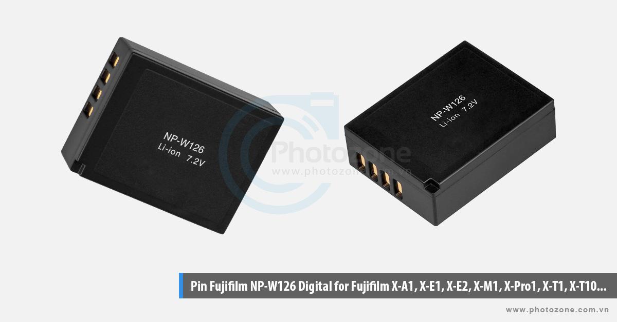 Pin Fujifilm NP-W126 Digital for Fujifilm X-A1, X-E1, X-E2, X-M1, X-Pro1, X-T1, X-T10...