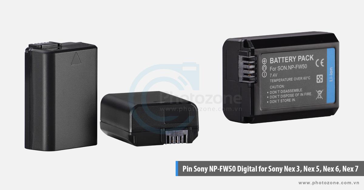 Pin Sony NP-FW50 Digital for Sony Nex 3, Nex 5, Nex 6, Nex 7 theo chuẩn pin Lithium ion, dung lượng 1120mAh cho thời gian sử dụng lâu hơn. Pin Sony NP-FW50 được đảm bảo đạt chất lượng tốt, tuổi thọ cao và an toàn cho thiết bị. Giá cả lại rất phù hợp cho việc bạn muốn mua thêm một pin dự phòng.