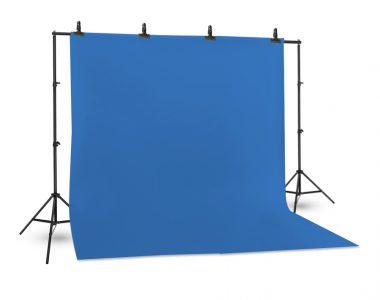Bộ phông vải quay phim xanh dương (3 x 4m) Cotton Muslin cao cấp, kèm khung treo (3 x 2.6m)