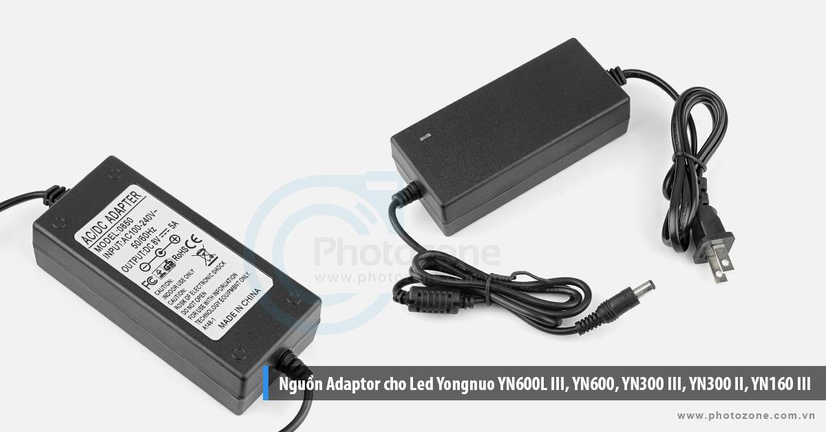 Nguồn Adaptor cho Led Yongnuo YN600L III, YN600, YN300 III, YN300 II, YN160 III