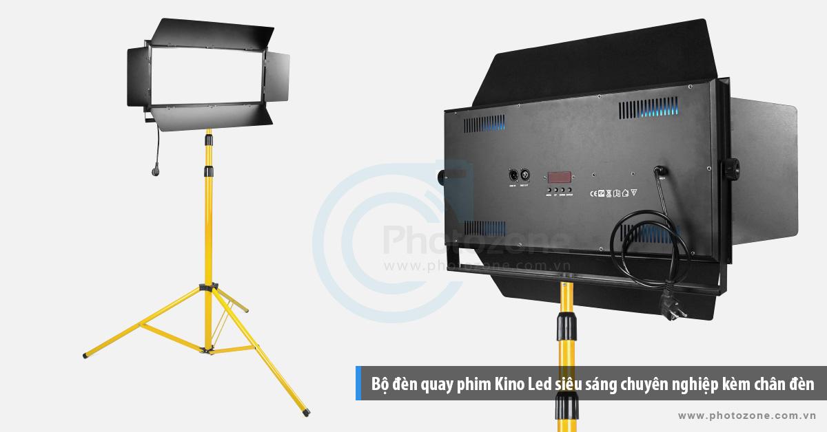 Bộ đèn quay phim Kino Led ánh sáng trắng (6500K) chuyên nghiệp kèm chân đèn 3m