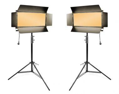 Bộ 2 đèn quay phim Kino Led ánh sáng vàng (3200K) chuyên nghiệp kèm chân đèn 2.8m
