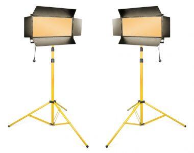 Bộ 2 đèn quay phim Kino Led ánh sáng vàng (3200K) chuyên nghiệp kèm chân đèn 3m