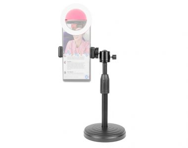 Bộ giá kẹp điện thoại + LED Ring mini trợ sáng Livestream