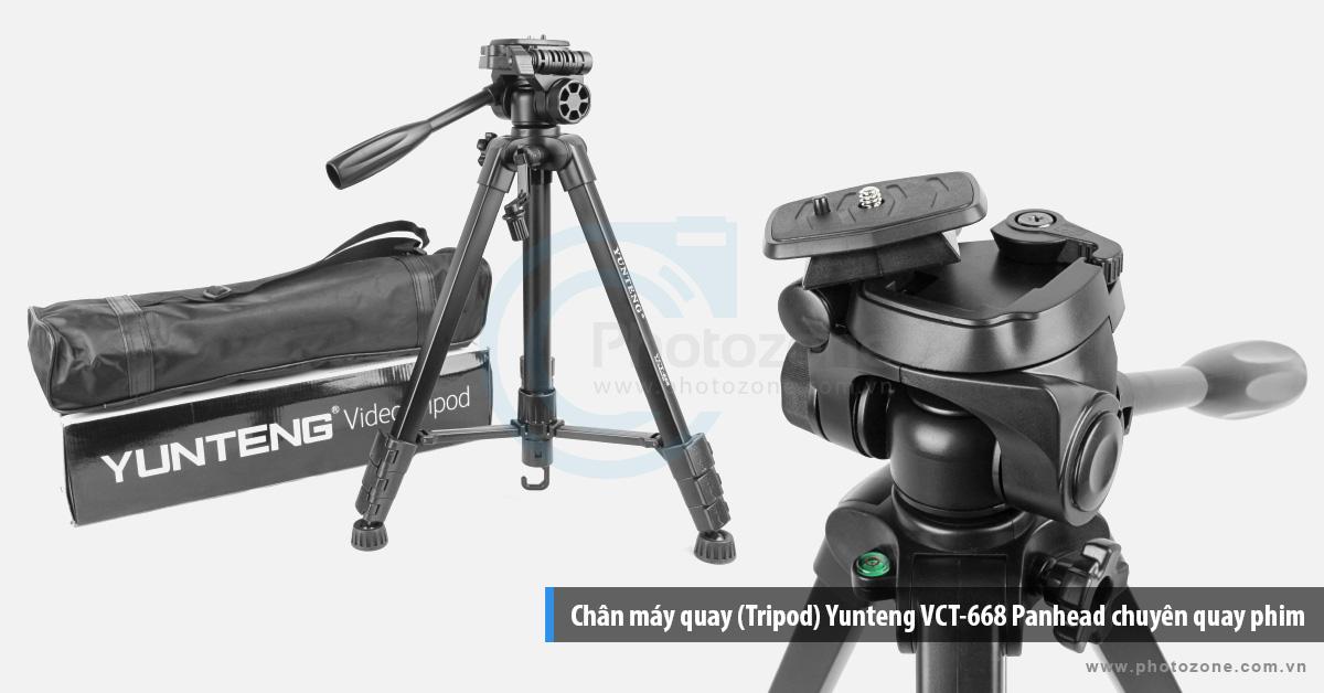 Chân máy quay (Tripod) Yunteng VCT-668 Panhead chuyên quay phim