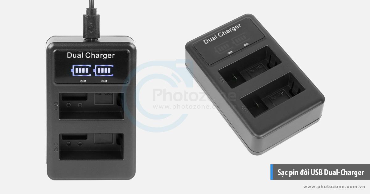Sạc pin đôi USB Canon LP-E8 Digital for Canon 550D, 600D, 650D, 700D
