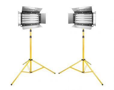 Bộ 2 đèn quay phim Kino 4 bóng Led ánh sáng trắng (5600K) chuyên nghiệp kèm chân đèn 3m