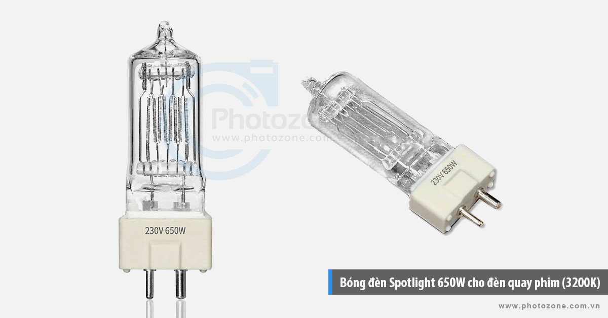 Bóng đèn Spotlight 650W cho đèn quay phim (3200K)